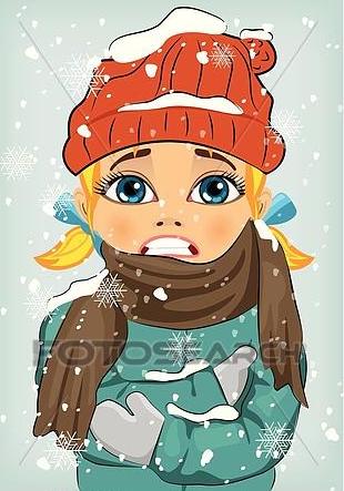Little-girl-freezing-in-winter-cold-clipart__k37899492